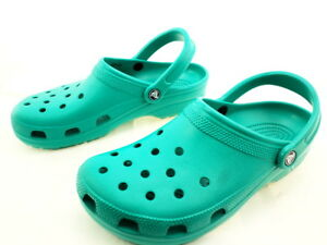 630127e89939b Image is loading Crocs-Unisex-Classic-Clog-Teal-Rubber-9-M-