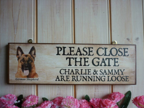Chien signe d/'avertissement beware of the dog berger allemand nom propre signe propre formulation chien
