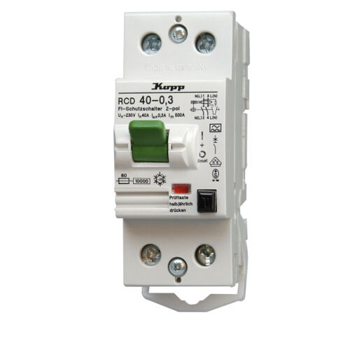 Kopp Fehlerstromschutzschalter RCD 2polig 230 V AC nach DIN VDE 0664 Strom NEU | Spielen Sie das Beste
