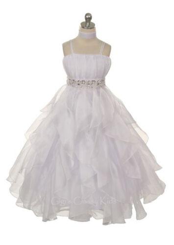 New Girls Fuchsia Princess Dress Pageant Wedding Birthday Graduation Party Fancy