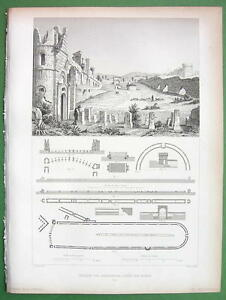 ITALY-Rome-Circus-Romulus-or-Caracalla-1850-Antique-Print-Engraving