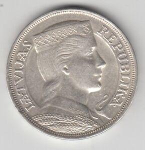Lettonie-5-Lats-1932-Argent