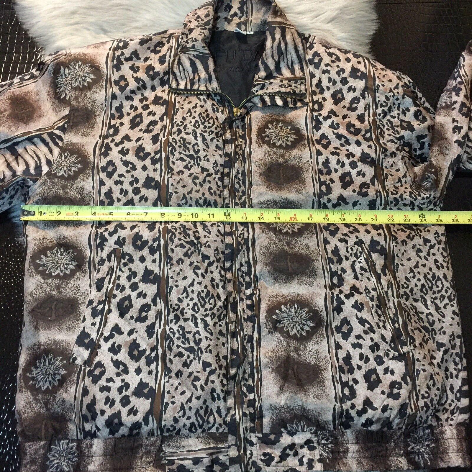 Women's Fuda International Zip Jacket ~ Sz L~ Ani… - image 10