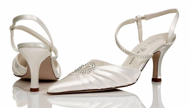 Ivory satin bridal bridesmaid wedding shoes size 4,5,6,7,8 Style Caprice