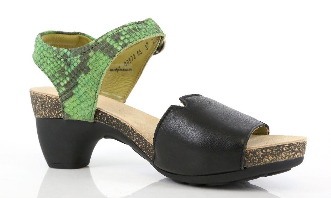 Think Donna    Traudi Jungle Soft Nappa Effect Gabo verde Sandal Heels EU 38 9265 4e0a56