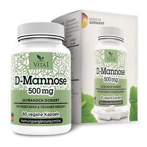 D-Mannose-60-Kapseln-500mg-Rein-pflanzlich-amp-natuerlich-frei-von-Nebenwirkungen
