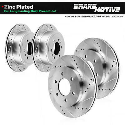 Front Rear Rotors Ceramic Pads For 2005 2006 INFINITI QX56 NISSAN ARMADA TITAN