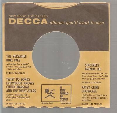 dot Pattern Reverse Hospitable Company Sleeve 45 Decca Yellow/black W/ Black & Yellow 1