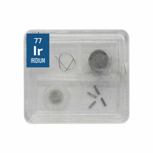Iridium-Metal-Wire-Powder-Crystal-Foil-Quad-Element-Tile-Pure-Periodic-Table