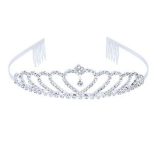 Crown-Tiara-Princess-Headband-Stylish-Rhinestone-with-Pin-for-Wedding-B7H4