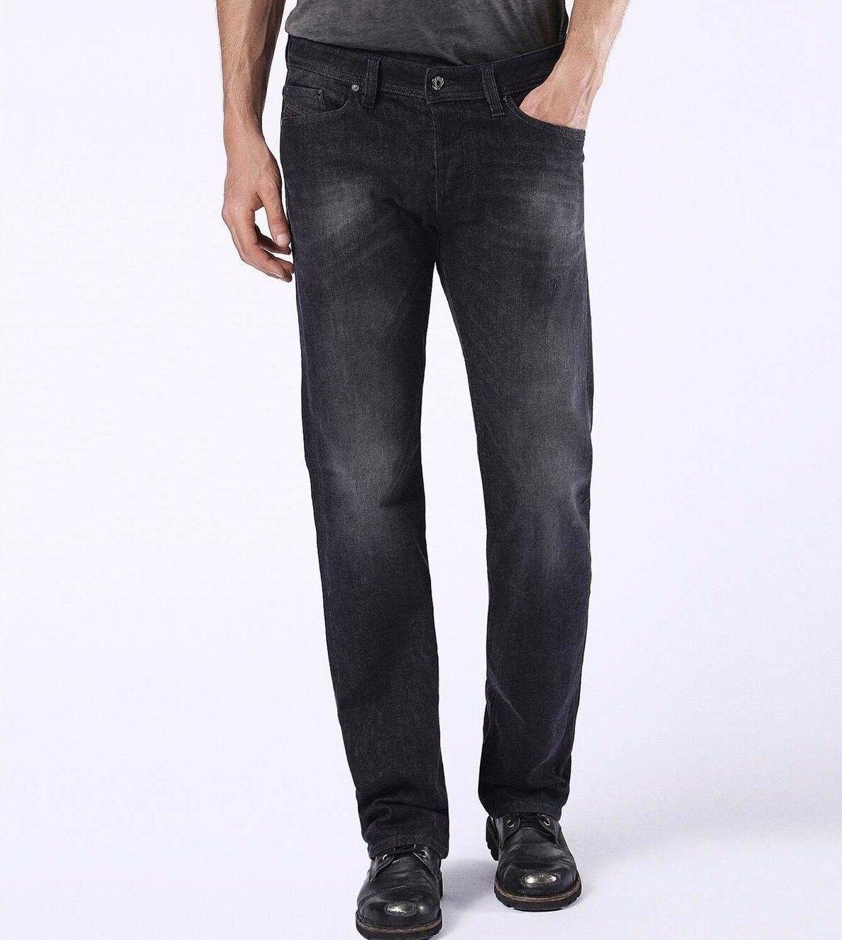 Nwt Diesel Sz31X32 Viker Regelmäßige Gerade Stretch Denim Jeans Wash U0823
