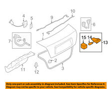 Genuine Subaru Trunk Lamp Assembly 84611GA000