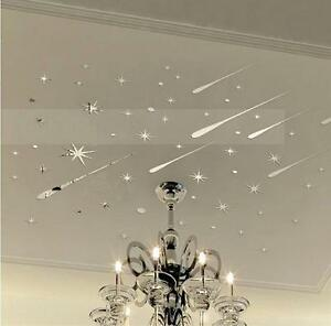 Star-Meteor-Acrylic-Mirror-Wall-Home-Decal-Art-Room-Ceiling-Vinyl-Stickers