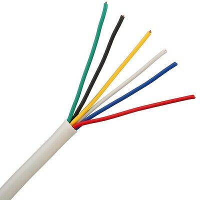 8 Core Cable Burglar Security Wire PVC Insulated New White Intruder Alarm 6