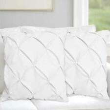 Pintuck 2 Pillow Shams Egyptian Cotton Sateen Choose Color and Size 1 Pair