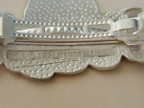 SCOOBY DOO Hair Clip 1999 Hair accessory Hanna metal enamel silver tone NIP