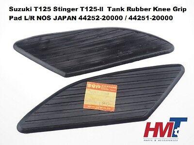 Fits Suzuki T125 Stinger 1969-72 Gas Tank Rubber Knee Grips New