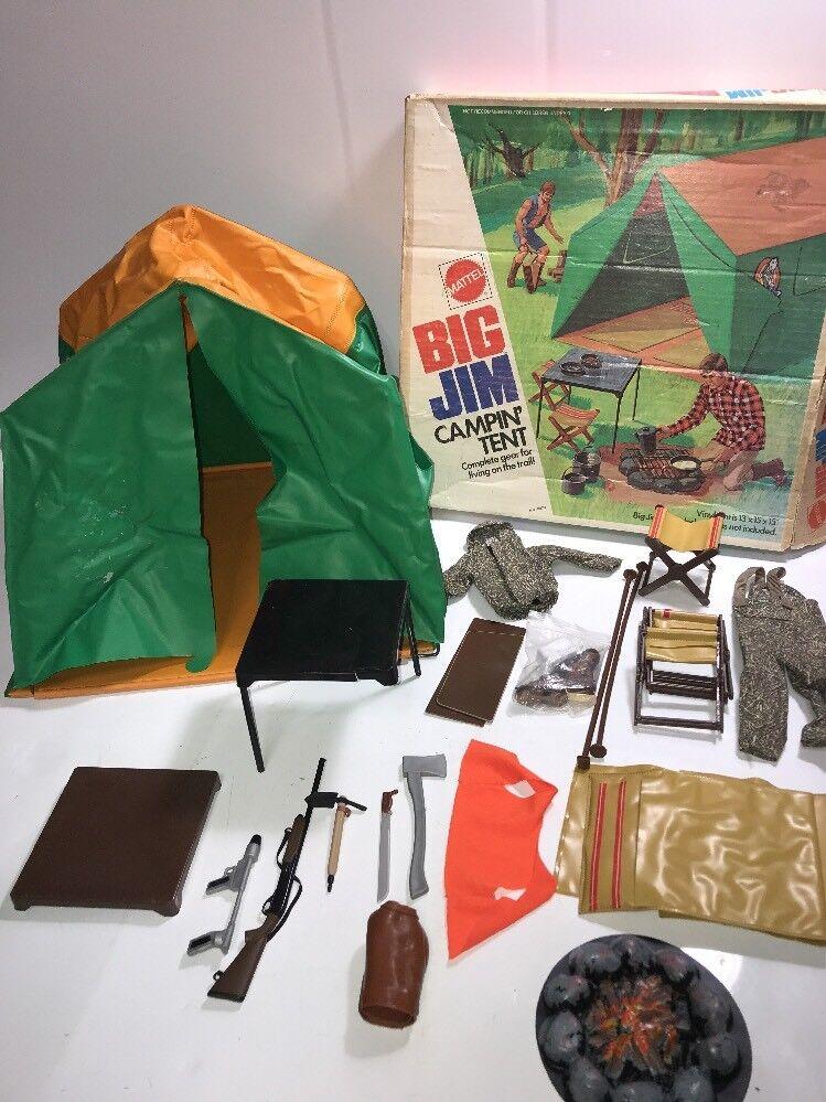 1972 Mattel Big Jim Campin' Tent w Original Box Vintage Toy Incomplete