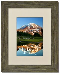 Set Of 12 8x10 Driftwood Picture Frame Glass Warm White Mat For