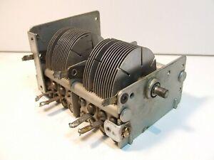370pF-130pF-amp-420pF-80pF-or-2-x-500pF-QUAD-GANG-AIR-SPACED-VARIABLE-CAPACITOR