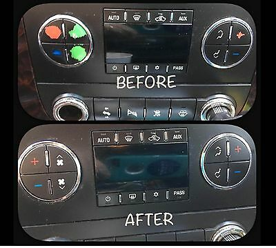 GM CHEVY AC Button Stickers Kit Decal Dash Repair for 2007-2014 US SELLER!