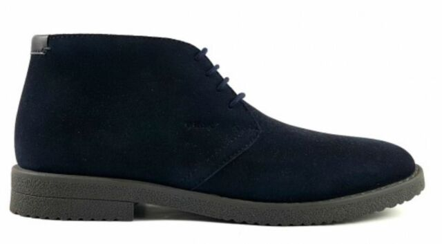 Geox Respira Men s Shoes Suede BOOTS Lace up BOOTS U Brandled E Navy ... 8e1378716e3