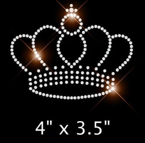 Hierro en cristal de Estrás transferencia Princesa Corona Para Niñas Ropa Y Acc