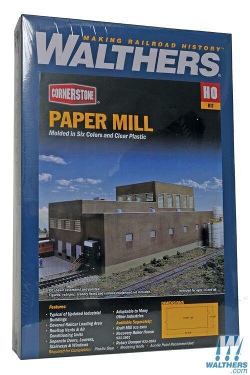 Ho Walthers Piedra Angular Kit 933-3902 Molino de papel   Nuevo en Caja