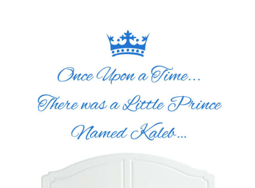 Once Upon a Time Prince Kaleb Wall Sticker Decal Bed Room Nursery Art Boy//Baby