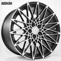 19x9.5 +15 Aodhan Ls001 5x114.3 Black Machined Wheel Fit Ford Mustang Gt Wrx Sti on sale