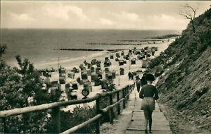 Ansichtskarte-Koserow-Usedom-Auf-dem-Weg-zum-Strand-Nr-894