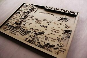 Details About Game Of Thrones 3d Engraved Wooden Map