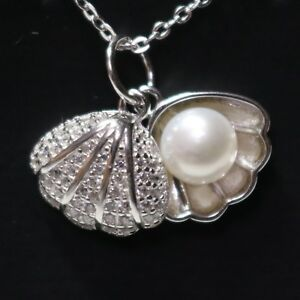 White-Round-Akoya-Pearl-Pendant-Necklace-925-Sterling-Silver-14K-Gold-Plated