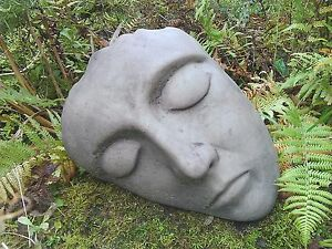 Ordinaire Image Is Loading STONE GARDEN LYING SLEEPING FACE STATUE HEAD ORNAMENT