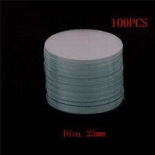 100Pcs Circular Round Miniscope Slide Coverslip Cover Glass Diameter 25mm QWHXN