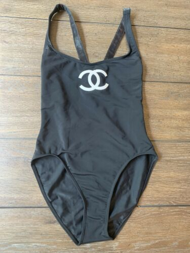 Vintage  chanel Black One Piece Swimsuit 38 Intl F