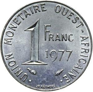 Franzoesisch-Westafrika-Muenze-1-Franc-1977