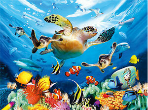 the underwater world lenticular 3d picture animal poster