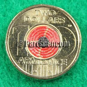 1 x 2018 $2 two dollar coin coloured Remembrance Day Armistice from RAM coins