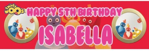 2 x Personalized Birthday Banner Twirlywoos Party Nuersry Kid Children 1st birth