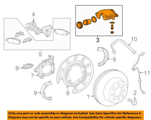 GM OEM Rear-Caliper Left 23279395