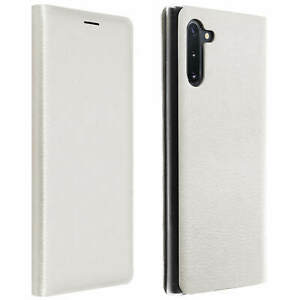 Flip-Book-cover-wallet-case-with-stand-for-Samsung-Galaxy-Note-10-White