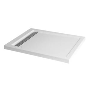 Duschwanne mit Duschrinne für barrierefreies Bad Dusche 120 x 90 cm weiß