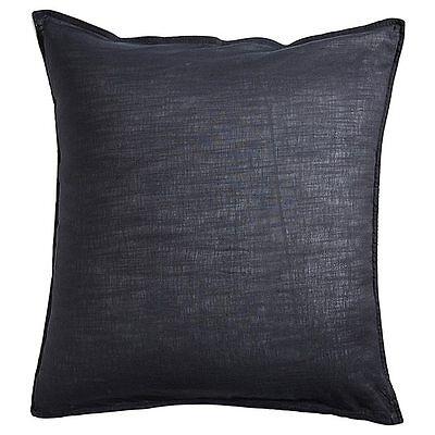 NEW Linen Cotton European Pillowcase - Grey