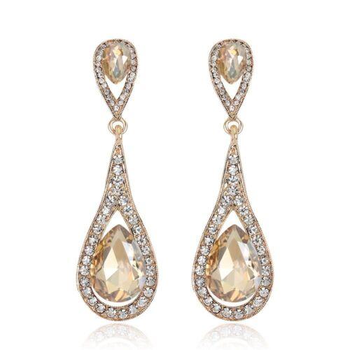 Hanging Boucles d/'oreilles Goutte Boucles d/'Oreilles Mariage Bijoux Crystal Drop Dangle