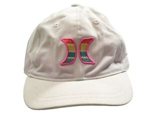 32ebc0c53 Details about Hurley ONE & ONLY YC White Multi Dad Hat Sliding Strapback  Junior Women's Hat