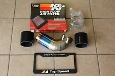 Top Speed Pro-1 TITANIUM Air Intake Pipe + K&N Filter for Lexus RCF Coupe 15-17