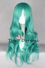 Cosplay Wig Halloween Sailor Moon Sailor Neptune Green Curly Woman Anime
