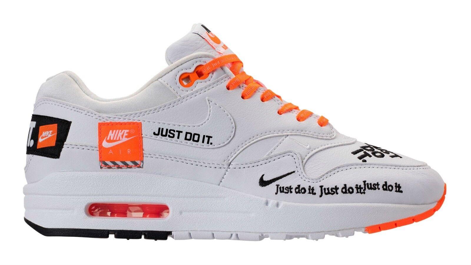 Nike Air Max 1 SE Lux Just Do It White Orange A01021 100 men size 8-13
