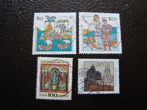 germany-frg-stamp-yvert-and-tellier-n-1436-a-1439-obl-A3-stamp-germany